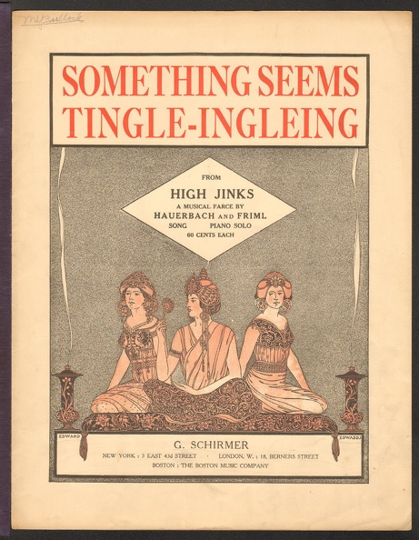 1919 Something Seems Tingle Ingleing from High Jinks Otto Hauerbach Rudolf Friml .jpg