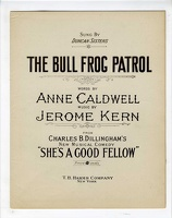 1919 The Bull Frog Patrol from She's A Good Fellow Duncan Sisters Anne Caldwell Jerome Kern
