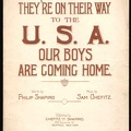 1919 They're On Their Way To The USA Philip Shapiro Sam Chefitz Buffalo NY