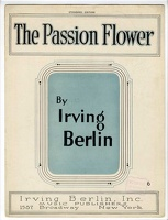 1921 Passion Flower Irving Berlin