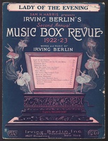 1922 Lady Of The Evening from Music Box Revue 1922-23 Irving Berlin