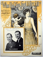 1922 Who Did You Fool After All Alfred Barbelle Gus Van Joe Schenck Johnny S Black